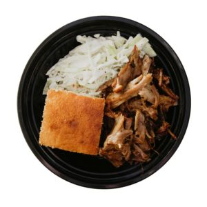Roasted Pork with Coleslaw and Cornbread
