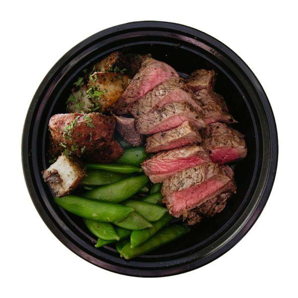 Steak with Potatoes & Snap Peas